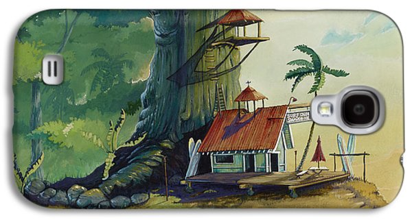 Landscapes Paintings Galaxy S4 Cases - Ko olau Surf Shack Galaxy S4 Case by Bill Shelton