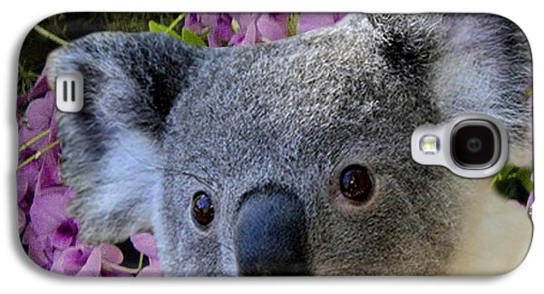 Koala Digital Galaxy S4 Cases - Koala and Cooktown Orchids Galaxy S4 Case by Erika Kaisersot