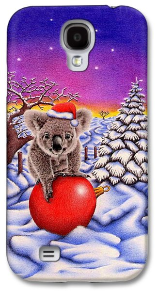 Joyful Drawings Galaxy S4 Cases - Koala on Ball Galaxy S4 Case by Heidi Vormer