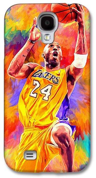 Black Mamba Galaxy S4 Cases - Kobe Bryant Basketball Art Portrait Painting Galaxy S4 Case by Andres Ramos