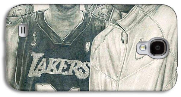 Bryant Drawings Galaxy S4 Cases - Kobe Bryant Galaxy S4 Case by Kobe Carter
