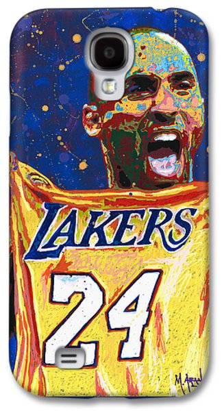 Bryant Paintings Galaxy S4 Cases - Kobe Bryant Galaxy S4 Case by Maria Arango