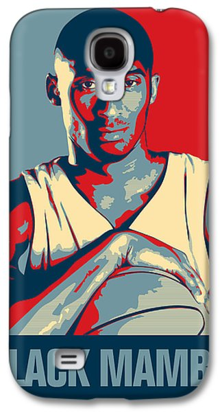 Basketball Abstract Galaxy S4 Cases - Kobe Bryant Galaxy S4 Case by Taylan Soyturk