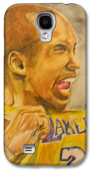 Bryant Drawings Galaxy S4 Cases - Kobe Victory Galaxy S4 Case by Tyrus Upshaw