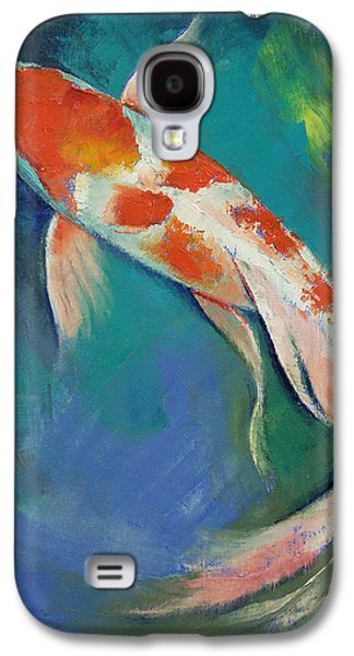 Butterfly Koi Galaxy S4 Cases - Kohaku Butterfly Koi Galaxy S4 Case by Michael Creese