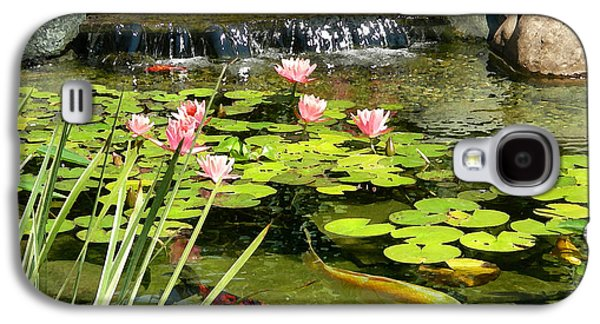 Fish Pond Galaxy S4 Cases - Koi Pond Galaxy S4 Case by Doug Kreuger