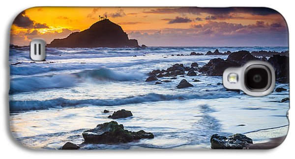 Splashy Photographs Galaxy S4 Cases - Koki Beach Harmony Galaxy S4 Case by Inge Johnsson