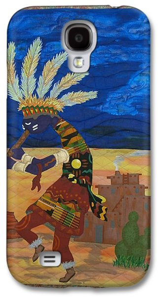 Indian Tapestries - Textiles Galaxy S4 Cases - Kokopelli Happiness Galaxy S4 Case by Linda Egland