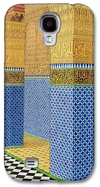 Moroccan Galaxy S4 Cases - Koranic School, Fez, 1998 Acrylic On Linen Galaxy S4 Case by Larry Smart