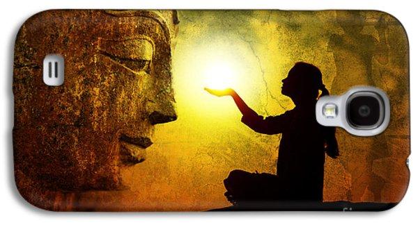 Religious Galaxy S4 Cases - Krishna Devotion Galaxy S4 Case by Tim Gainey