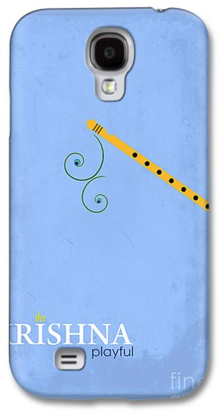 Playful Digital Galaxy S4 Cases - Krishna the Playful Galaxy S4 Case by Tim Gainey