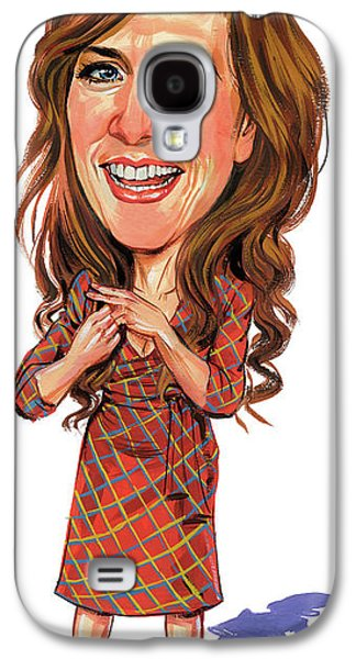 Caricature Paintings Galaxy S4 Cases - Kristen Wiig Galaxy S4 Case by Art