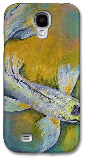 Butterfly Koi Galaxy S4 Cases - Kujaku Butterfly Koi Galaxy S4 Case by Michael Creese