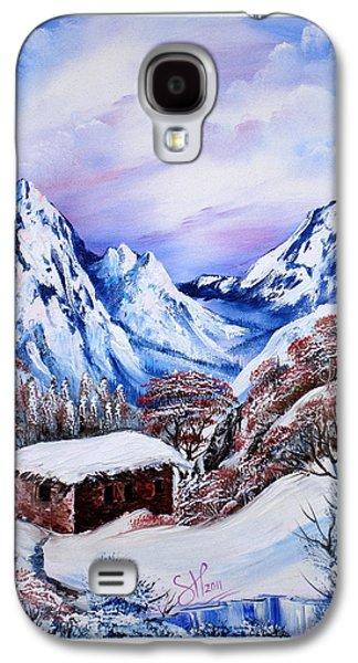 Bob Ross Paintings Galaxy S4 Cases - Kurdish House Galaxy S4 Case by Shirwan Ahmed