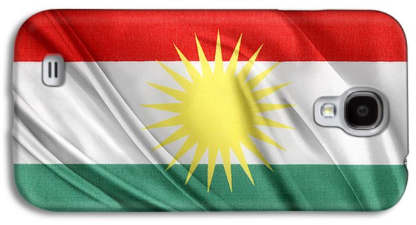 Iraq Galaxy S4 Cases - Kurdistan flag Galaxy S4 Case by Les Cunliffe