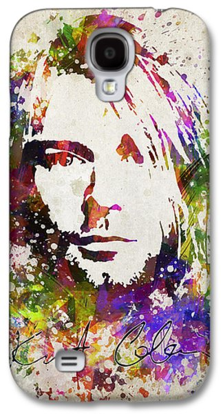 Famous Band Galaxy S4 Cases - Kurt Cobain in Color Galaxy S4 Case by Aged Pixel