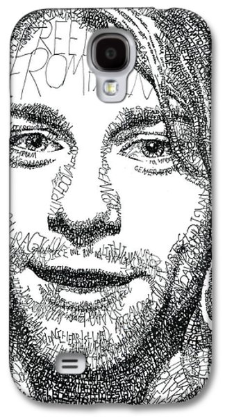 20th Drawings Galaxy S4 Cases - Kurt Cobain Galaxy S4 Case by Michael  Volpicelli