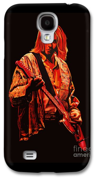 Kurt Cobain Painting Galaxy S4 Case by Paul Meijering