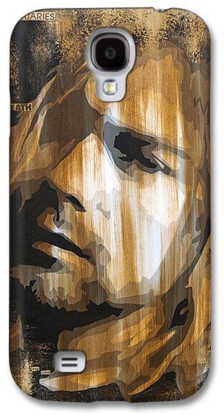 Mixed Media Galaxy S4 Cases - Kurt Cobain Tormented  Galaxy S4 Case by Brad Jensen