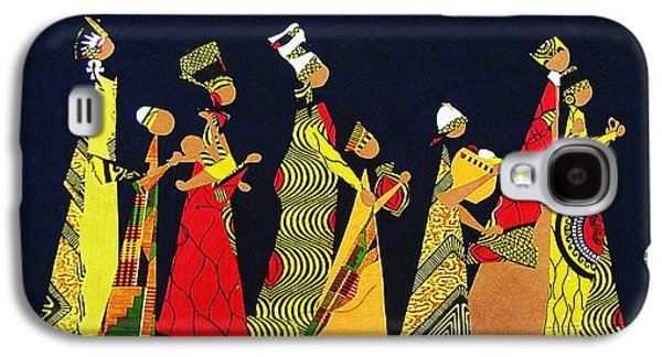 African-americans Tapestries - Textiles Galaxy S4 Cases - Kwaanza Celebration Galaxy S4 Case by Ruth Yvonne Ash