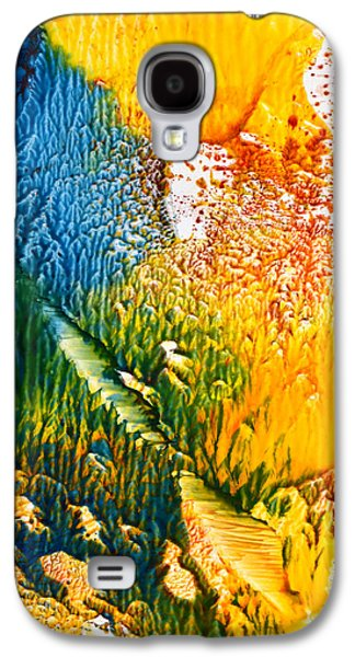 Disorder Paintings Galaxy S4 Cases - L intrus Galaxy S4 Case by Anne-Marie Coadebez