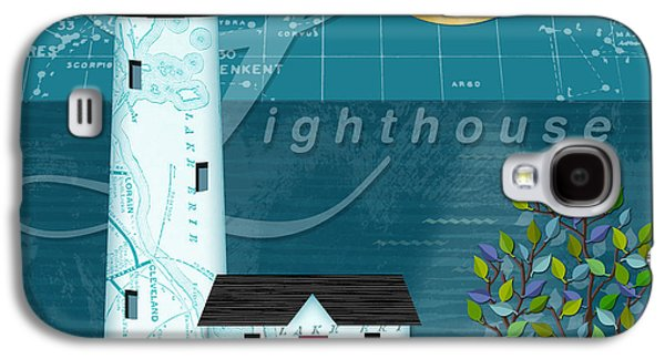 The Houses Mixed Media Galaxy S4 Cases - L is for Lighthouse Galaxy S4 Case by Valerie   Drake Lesiak