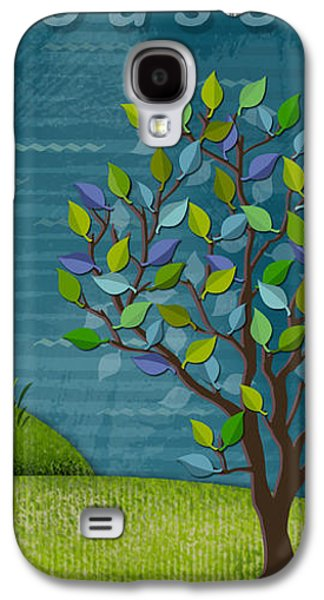 The Trees Mixed Media Galaxy S4 Cases - L is for Lighthouse Galaxy S4 Case by Valerie   Drake Lesiak