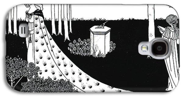 Illustrator Galaxy S4 Cases - La Beale Isoud at Joyous Gard Galaxy S4 Case by Aubrey Beardsley