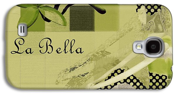 Abstract Realism Digital Art Galaxy S4 Cases - La Bella - Green 01-03 Galaxy S4 Case by Variance Collections