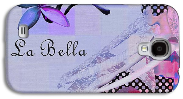 Abstract Realism Digital Art Galaxy S4 Cases - La Bella - j647152-04 Galaxy S4 Case by Variance Collections