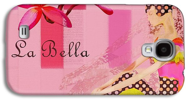 Abstract Realism Digital Art Galaxy S4 Cases - La Bella  - Pink - 055152176-02 Galaxy S4 Case by Variance Collections