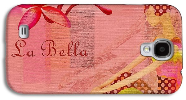 Abstract Realism Digital Art Galaxy S4 Cases - La Bella - Pink - 064152173-01 Galaxy S4 Case by Variance Collections
