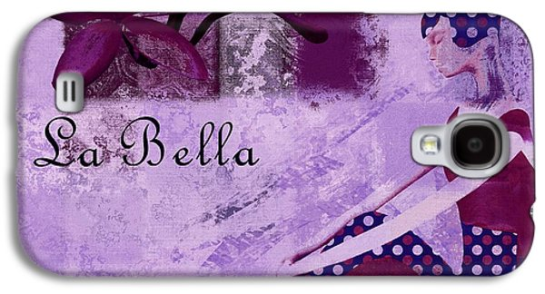 Abstract Realism Digital Art Galaxy S4 Cases - La Bella - Plum - 0640671052-01b Galaxy S4 Case by Variance Collections