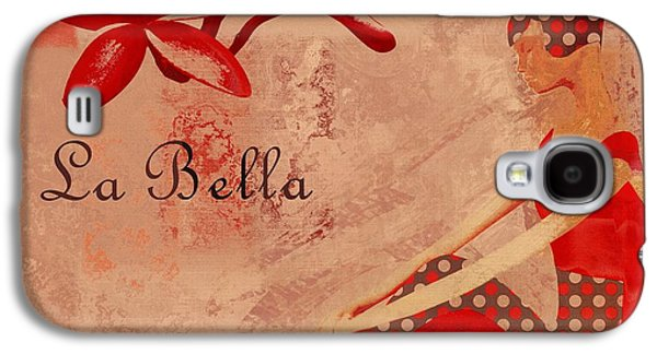 Abstract Realism Digital Art Galaxy S4 Cases - La Bella - red - 064152173-02 Galaxy S4 Case by Variance Collections