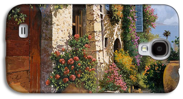 Street Paintings Galaxy S4 Cases - La Bella Strada Galaxy S4 Case by Guido Borelli