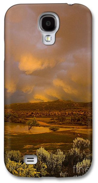 River Flooding Galaxy S4 Cases - La Boca Rain Galaxy S4 Case by Jerry McElroy