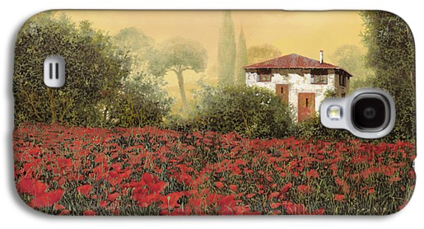 Close Galaxy S4 Cases - La casa e i papaveri Galaxy S4 Case by Guido Borelli