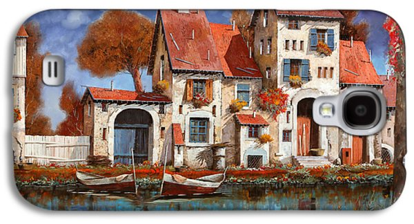 Guido Galaxy S4 Cases - La Cascina Sul Lago Galaxy S4 Case by Guido Borelli
