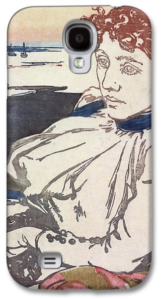 20th Drawings Galaxy S4 Cases - La Convalescante Mademoiselle Lepere Galaxy S4 Case by August Lepere