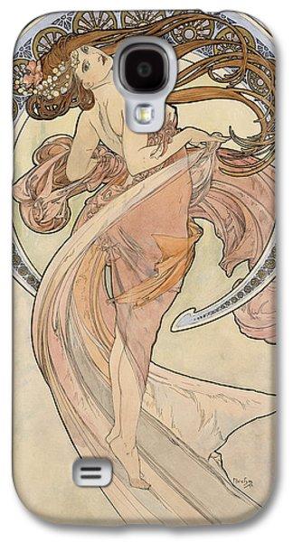 Decorative Photographs Galaxy S4 Cases - La Danse, 1898 Watercolour On Card Galaxy S4 Case by Alphonse Marie Mucha
