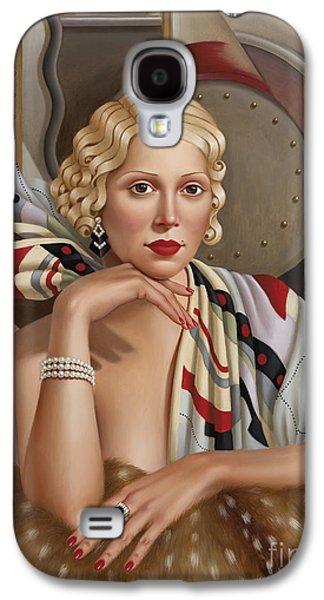 Shawl Galaxy S4 Cases - La Femmeen Soiehi  Galaxy S4 Case by Catherine Abel