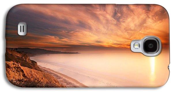 Sun Galaxy S4 Cases - La Jolla Sunset 5 Galaxy S4 Case by Larry Marshall