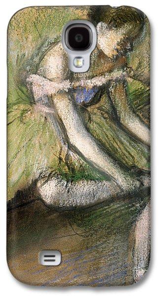 Tutus Paintings Galaxy S4 Cases - La Jupe Verte Galaxy S4 Case by Edgar Degas