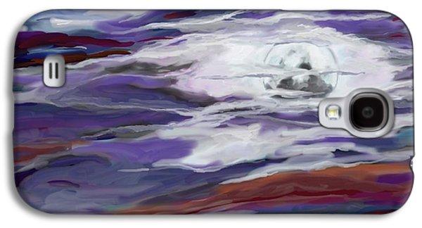 Turbulent Skies Digital Art Galaxy S4 Cases - La Luna 2 Galaxy S4 Case by Jeanne Fischer