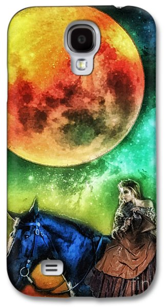 Girl Galaxy S4 Cases - La Luna Galaxy S4 Case by Mo T