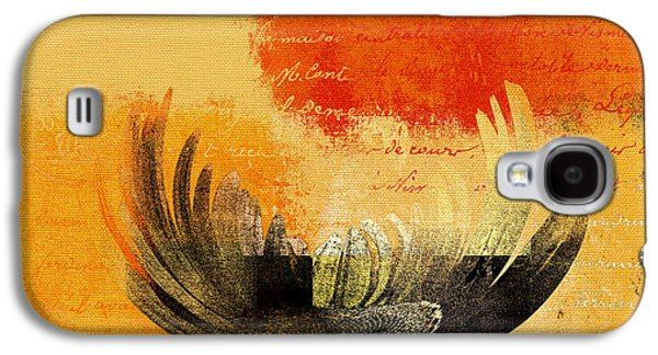 Floral Digital Galaxy S4 Cases - La Marguerite - 194191203-ro01t Galaxy S4 Case by Variance Collections