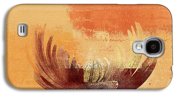 Floral Digital Galaxy S4 Cases - La Marguerite - 194191203-ro02t Galaxy S4 Case by Variance Collections