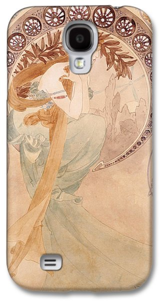Decorative Photographs Galaxy S4 Cases - La Poesie,  Watercolour On Paper Galaxy S4 Case by Alphonse Marie Mucha
