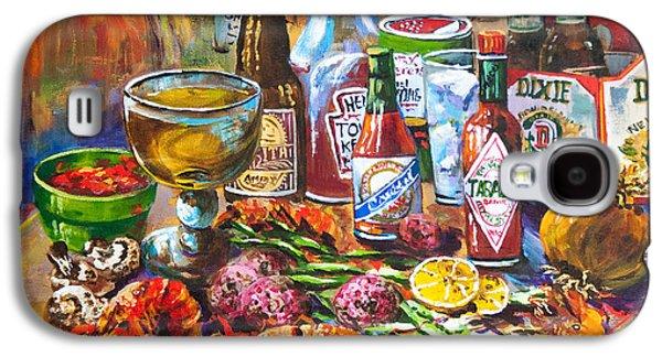Restaurants Paintings Galaxy S4 Cases - La Table de Fruits de Mer Galaxy S4 Case by Dianne Parks