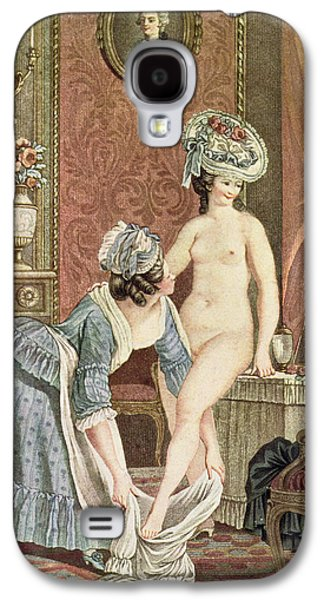 Nudes Drawings Galaxy S4 Cases - La Toilette Engraving By Louis Marin Galaxy S4 Case by Nicolas Rene Jollain
